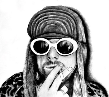 Kurt Cobain by Manuela Lai Canvas Giclee Art Print Nirvana Lead Singer