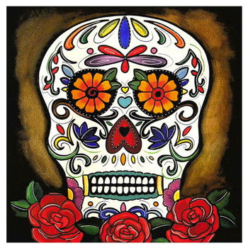 Melody Smith Sugar Skull Canvas Art Print