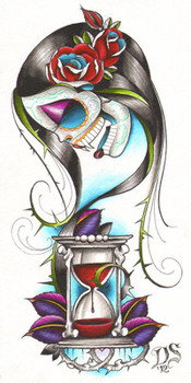 Eternal Spell by Dave Sanchez Canvas Giclee Art Print Day of the Dead Sugar Skull