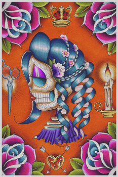 Mildred by Dave Sanchez Fine Art Print Day of the Dead Sugar Skull
