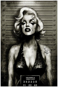 Marilyn Monroe Mugshot by Marcus Jones Screaming Demons Fine Tattoo Art Print