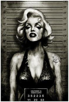 Marilyn Monroe Mugshot by Marcus Jones Screaming Demons Fine Tattoo Art Print