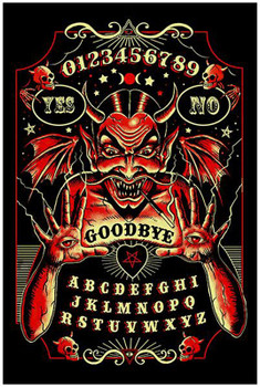 Devil Spirit Board Ouija Satan by Marcus Jones Screaming Demons Fine Tattoo Art Print