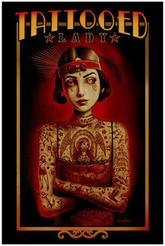 Tattooed Lady by Marcus Jones Screaming Demons Fine Tattoo Art Print