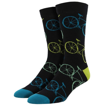 Road Bikes Fixie Men's Bamboo Crew Socks