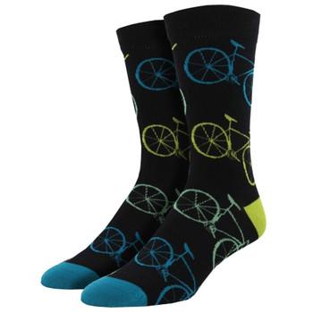 Road Bikes Fixie Men's Bamboo Crew Socks