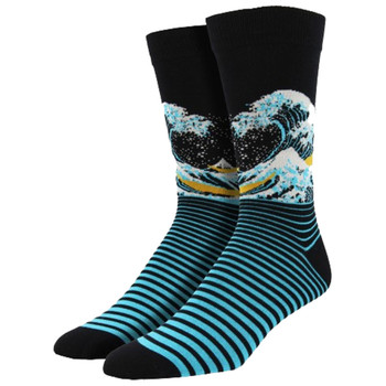 The Wave Men's Bamboo Crew Socks