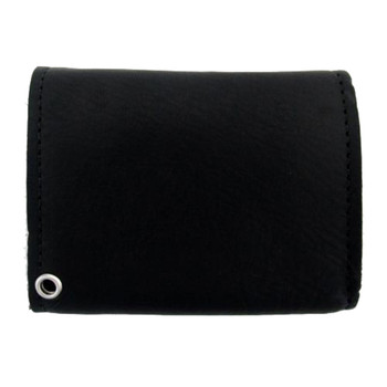 Leather Wallet with Skull Studs