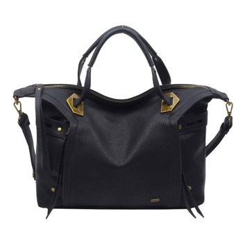 The Ali Satchel Handbag Purse Black Crossbody Bag
