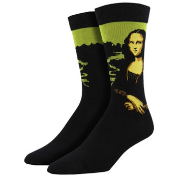 Mona Lisa Men's Bamboo Crew Socks