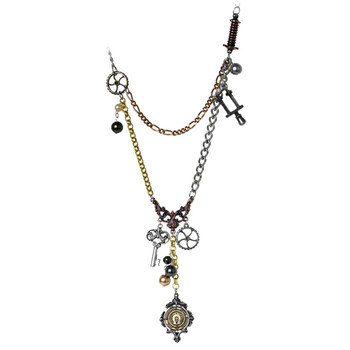 Alchemy Gothic Chaterlaine Pendant Necklace Pewter Jewelry P542