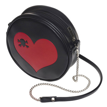 Alchemy Gothic Skull Heart Shoulder Bag Faux Leather Purse GB1