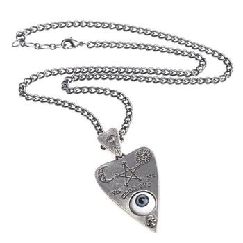 Alchemy Gothic Third Eye Ouija Board Planchette Pendant Necklace Pewter Jewelry P766