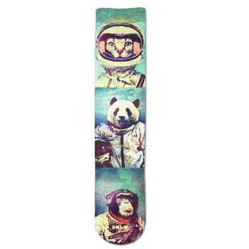 Men's Crew Socks Animal Astronaut