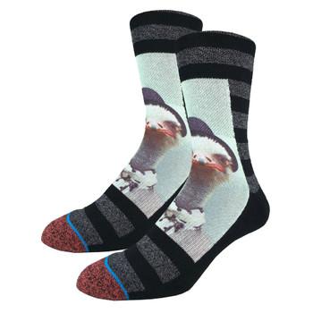 Men's Crew Socks Ostrich Mugshot