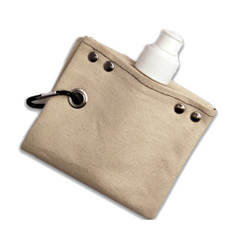 Wine Bottle Canvas Flask fold up view