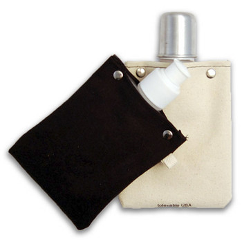 4oz Canvas Flask back view