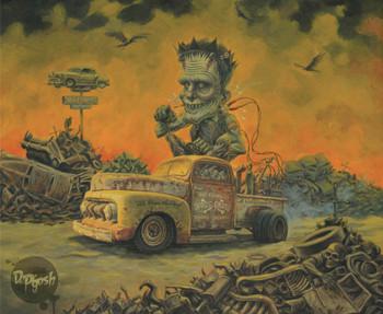 Big Frank's Spare Parts by P'gosh Frankenstein Monster Tattoo Art Print