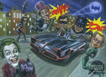 Gone Batty by P'gosh Batman and Robin Tattoo Art Print