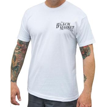 Machine by Lucky Aki Men's White Tee Shirt Tattoo Art Gun