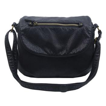 The Bonnie Saddle Crossbody Shoulder Bag Purse Black