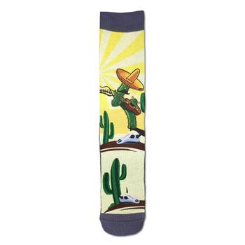 Men's Crew Socks Guitar Playing Cactus Active Footwear
