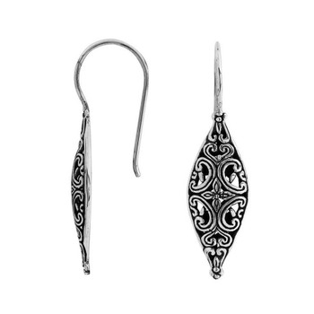 Sterling Silver Dangle Earrings Beautiful Filigree Design