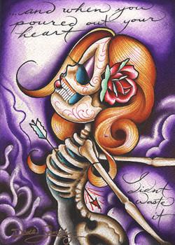 Medusa Curse by Dave Sanchez Canvas Giclee Tattoo Art Print Sugar Skull