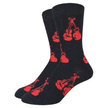 Men's Crew Socks Red Boxing Gloves