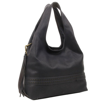 The Amia Hobo Black Purse Bohemian Tote Crossbody Shoulder Bag