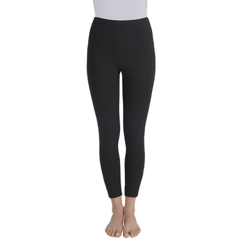 Lysse Harper Black Cotton Ankle Legging with Looped Strap Detail