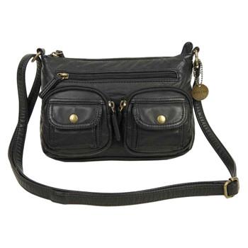 The Bethany Crossbody Shoulder Bag Purse Black
