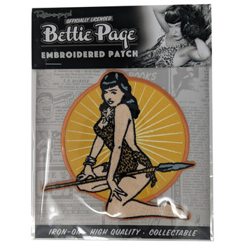 Bettie Page Jungle Girl Patch packaging view