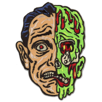 Melted Man Zombie Monster Patch Embroidered Iron On Applique