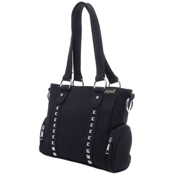 Sourpuss Purse Mini Leda Canvas Stud Black Crossbody Shoulder Bag