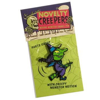 Wendy Avoids Rush Hour Enamel Pin Ghoulsville Creepy Witch Monster Collectable