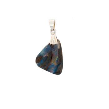 Natural Australian Boulder Opal Sterling Silver Pendant