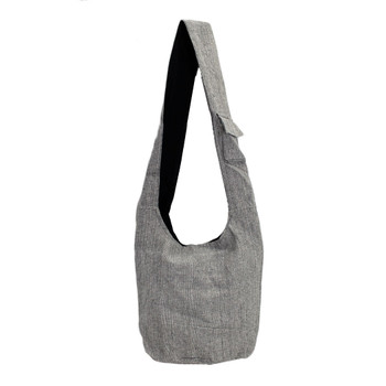 Tree of Life Gray Cotton Sling Bag Purse
