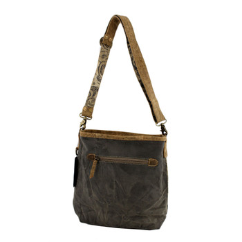 Brown Tones Patchwork Crossbody Cotton Recycled Canvas Bag