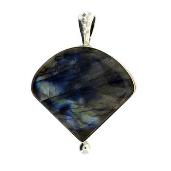 Handmade sterling silver Labradorite pendant.