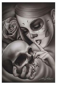 Hasta La Muerte by Spider Tattoo Art Print Adrian Castrejon