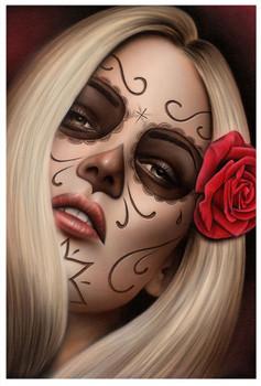 Spider's La Muerta by Spider Tattoo Art Print Adrian Castrejon
