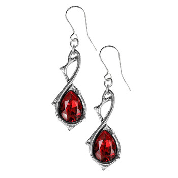 Alchemy Gothic Passionette Dangle Hook Earrings Pewter Jewelry E416