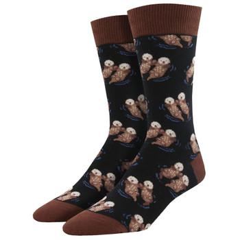Men's Crew Socks Significant Otter Marine Life Black