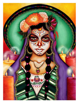 Ilumina Mi Camino by Cat Ashworth Tattoo Art Print Sugar Skull Mask