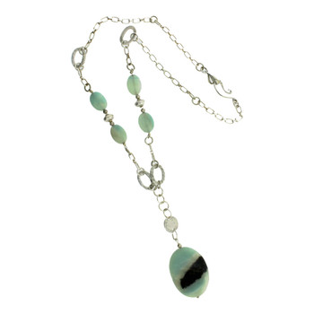 Jasper sterling silver necklace.
