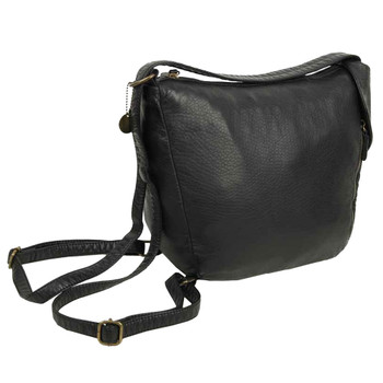The Joia Convertible Sack Crossbody Shoulder Bag Purse Black