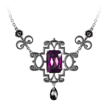 Alchemy Gothic Regiis Martyris Purple Pendant Necklace Pewter Jewelry P863