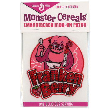 General Mills Franken Berry Cereal Monster Patch Embroidered Iron On Applique