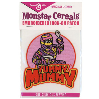 General Mills Yummy Mummy Cereal Monster Patch Embroidered Iron On Applique